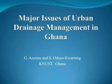 Urban drainage management in Ghana - SWITCH - Managing Water ...