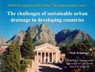 The challenges of sustainable urban drainage in developing countries