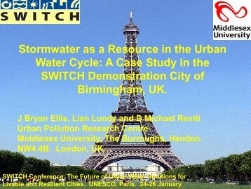 Stormwater as a Resource in the Urban Water Cycle - SWITCH ...