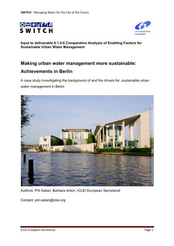 Case study of Berlin - SWITCH - Managing Water for the City of the ...