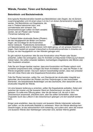 Wände, Fenster, Türen und Schutzplanen - Easythailand