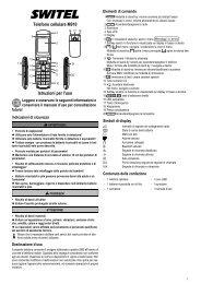 Telefono cellulare M910 Istruzioni per l'uso - SWITEL Senior