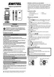 Téléphone portable M130 Mode d'emploi - SWITEL Senior