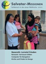 Nazareth: Lernziel Frieden - Salvator-Missionen