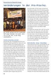 Veränderungen in der Pro-Provinz S.16 - Salvator-Missionen
