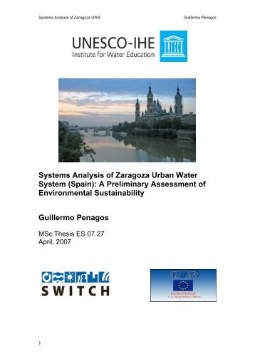 Systems Analysis of Zaragoza Urban Water - SWITCH - Managing ...