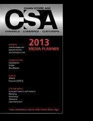2013 Media Planner: Editorial Calendar, Rates ... - Chain Store Age