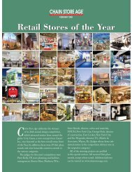 Retail Stores of the Year - Chain Store Age