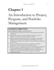 Chapter 1 An Introduction to Project, Program, and Portfolio