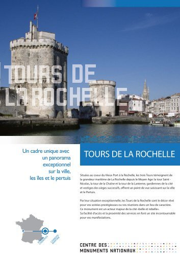 Tours de la Rochelle - Centre des monuments nationaux
