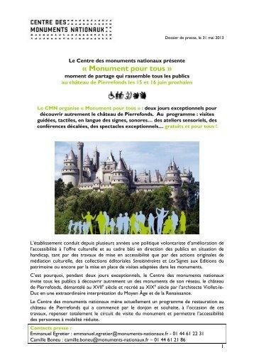Dossier de presse - Centre des monuments nationaux
