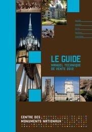 Manuel technique de vente 2012 - Centre des monuments nationaux