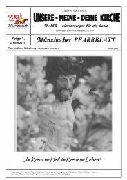 Münzbacher PFARRBLATT - Diözese Linz