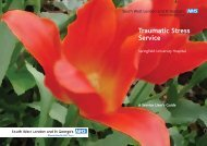 Traumatic Stress Service - South West London and St George's ...