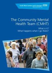 The Community Mental Health Team leaflet - South West London ...