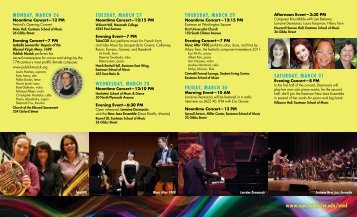 2012 Brochure (PDF) - Eastman School of Music
