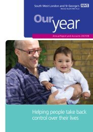 Annual Report 2007 / 2008 - South West London and St George's ...