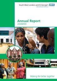 Annual Report 2008 / 2009 - South West London and St George's ...