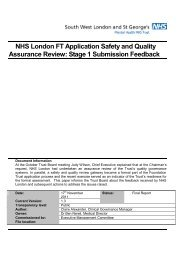 NHS London FT Application Safety and Quality Assurance Review