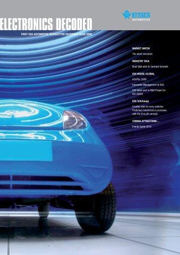 ELECTRONICS DECODED - ESG Automotive