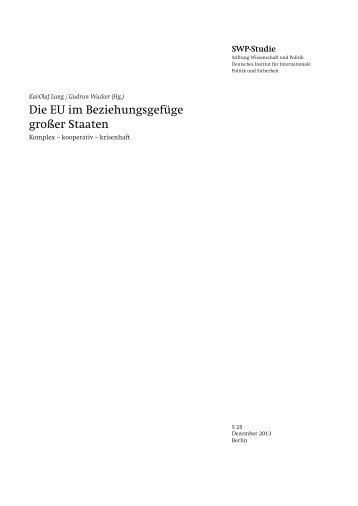 Zum Volltext (PDF) - Stiftung Wissenschaft und Politik