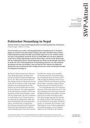 Politischer Neuanfang in Nepal. Nach der Wahl zur neuen ...