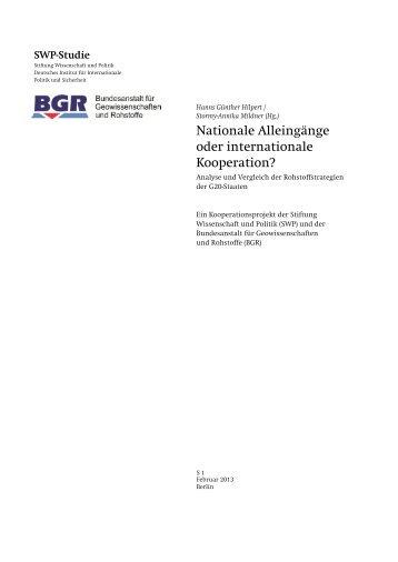Nationale Alleingänge oder internationale Kooperation? - Stiftung ...