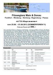 Flüsseglanz Main & Donau