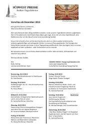 Vorschau ab Dezember 2013 - SÃœDWEST PRESSE + Hapag-Lloyd ...