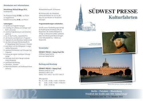 Berlin – Potsdam - SÜDWEST PRESSE + Hapag-Lloyd Reisebüro