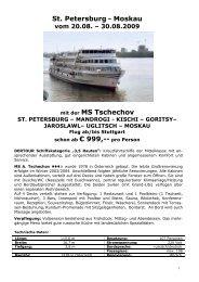 St. Petersburg - Moskau SWP 20.08.09 MS Tschechov
