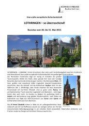 LOTHRINGEN - SÜDWEST PRESSE + Hapag-Lloyd Reisebüro