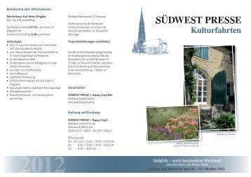 Südpfalz – reich beschenktes Weinland - SÜDWEST PRESSE + ...