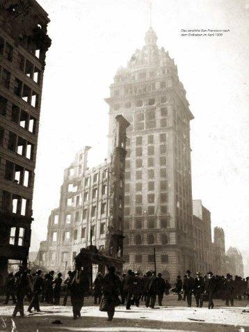 Das zerstörte San Francisco nach dem Erdbeben im April 1906