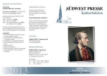 LEIPZIG - SÜDWEST PRESSE + Hapag-Lloyd Reisebüro
