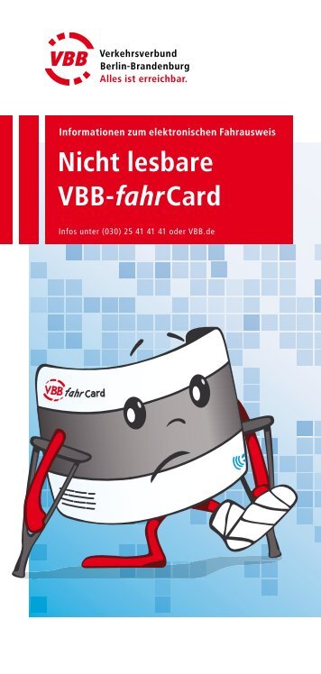 VBB-fahrCard - nicht lesbar? - Stadtwerke Potsdam GmbH