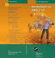 Herbstzeit ist ABO-Zeit - Stadtwerke Potsdam GmbH