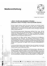 """Roll-in"" für die erste Variobahn in Potsdam - Stadtwerke Potsdam ..."