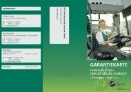Garantiekarte