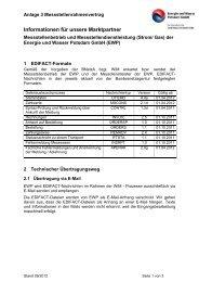 Anlage 3, Informationen für unsere Marktpartner