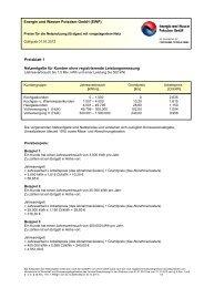 Netzentgelte Gas vom 01. Januar bis 31. Dezember 2012