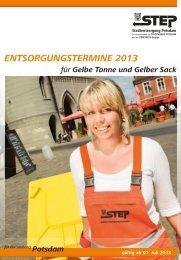 Entsorgungstermine 2013 für Gelbe Tonne und Gelben Sack ( PDF ...