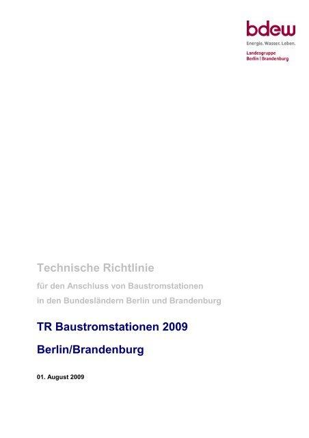 Baustromrichtlinie 2009 als Download ( PDF , 1,0 MB ) - Stadtwerke ...