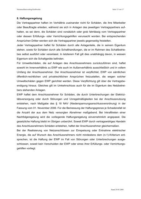 Netzanschlussvertrag - Stadtwerke Potsdam GmbH