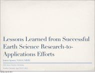 Lessons Learned from Successful Earth Science Research-to ...