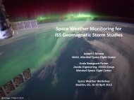 Space Weather Monitoring for ISS Geomagnetic Storm Studies