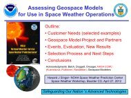 and Geospace Modelers - Space Environment Center - NOAA