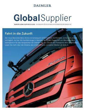 Fahrt in die Zukunft - Daimler Supplier Portal - Covisint