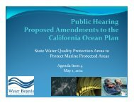State Water Quality Protection Areas to Protect Marine Protected Areas