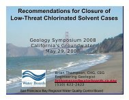 Recommended Closure Criteria for Low-Threat Solvent and Other ...